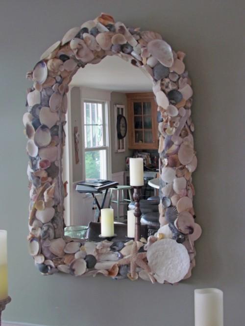 sea shells and starfish mirror (via blog)