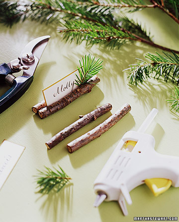 rustic twigs place card holder