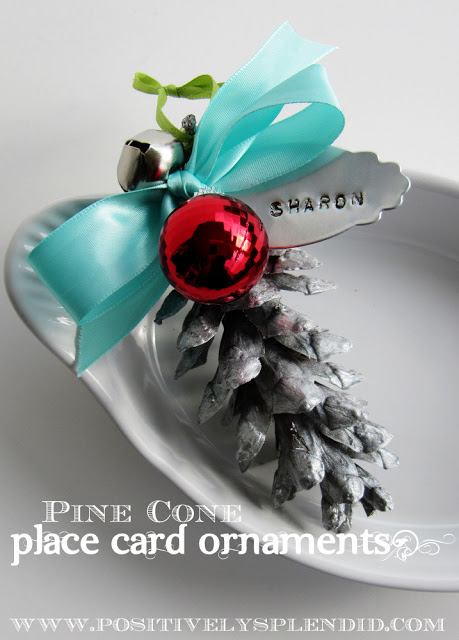 pinecone place card holder (via sumossweetstuff)