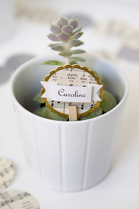 unique Christmas place card holders