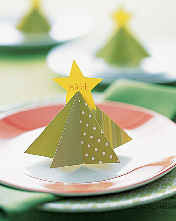 paper tree place card holder (via marthastewart)