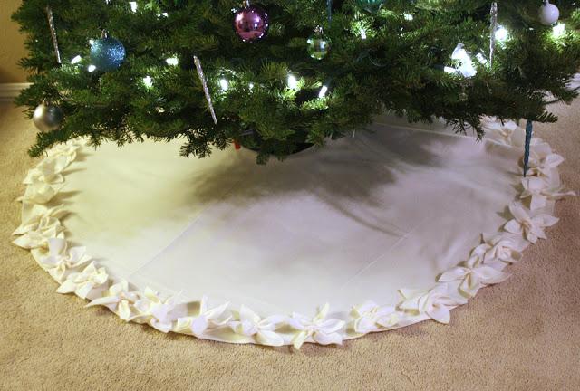 poinsettia tree skirt