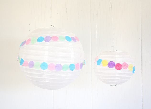 confetti party lanterns