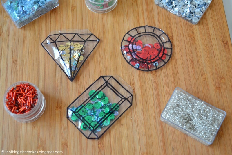 gemstone confetti tags