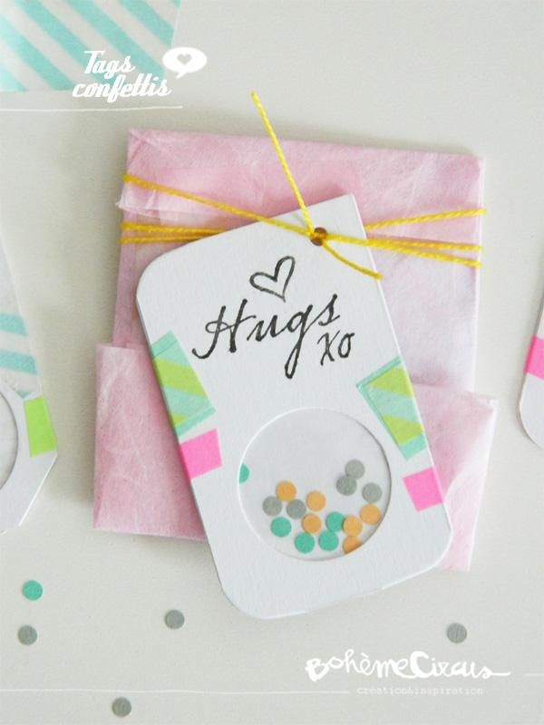 confetti tags