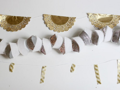 metallic New Year garlands (via momtastic)