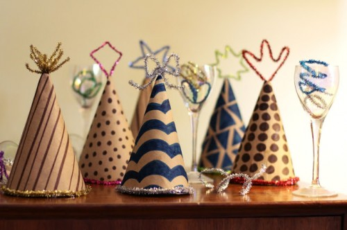New Year party hats (via salsapie)