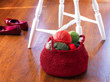 crochet basket with handles (via https:)