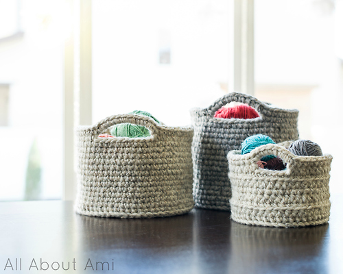 big crochet baskets