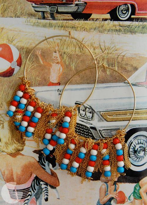 4th July hoop earrings (via runwaydiy)