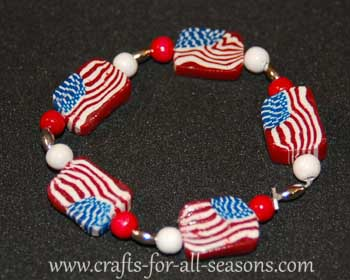 polymer clay bracelet (via crafts-for-all-seasons)