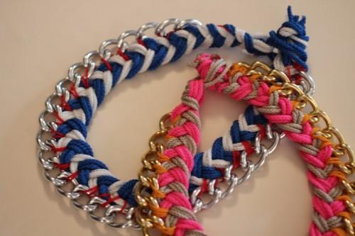 chevron chain necklace (via stripesandsequins)