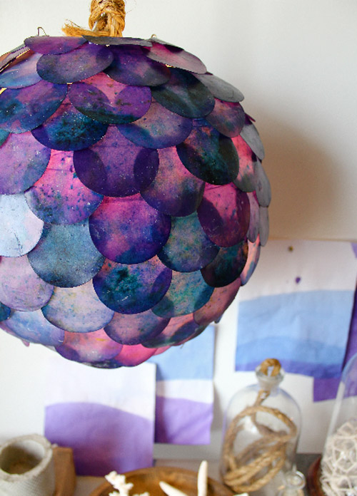 fish scale pendant lamp (via designsponge)