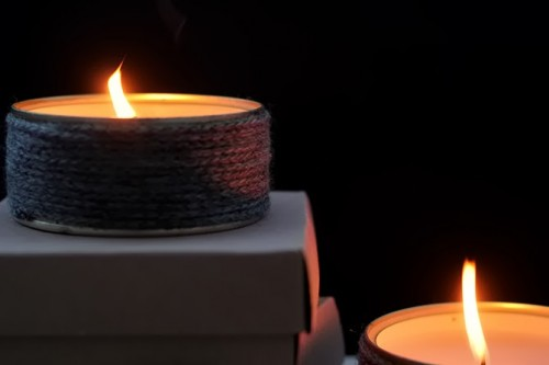 can and wool candles (via my-lifeboxblog)