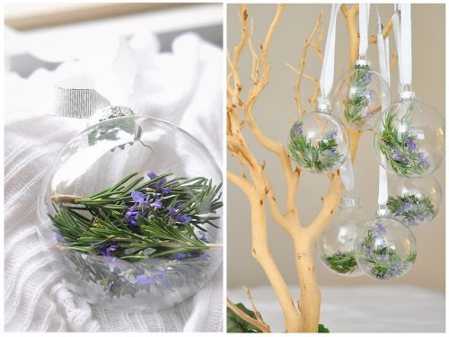 DIY rosemary filled ornaments (via thecheesethief)