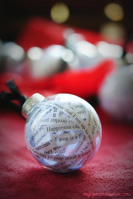 DIY quote ornaments