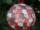 DIY scalloped Christmas balls