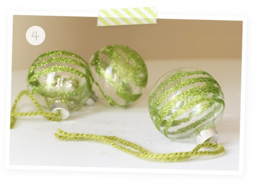 Glass paper glitter DIy ornaments (via warmhotchocolate)