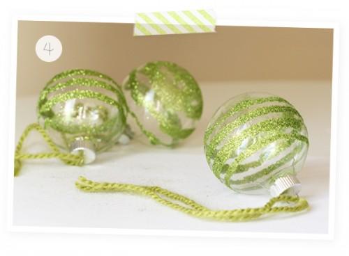 Glass paper glitter DIy ornaments