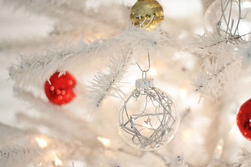 Transparent Christmas ornaments