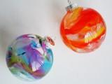 Crayon Christmas ornaments