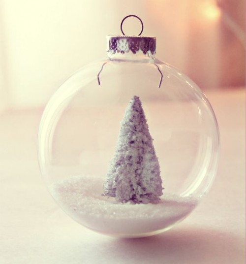 DIY snow tree ornament