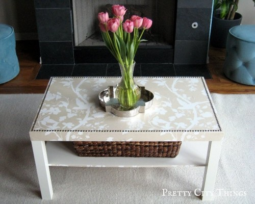 glam coffee table makeover