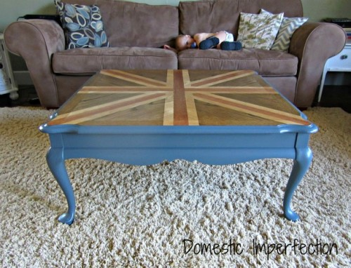 Union Jack coffee table (via domesticimperfection)