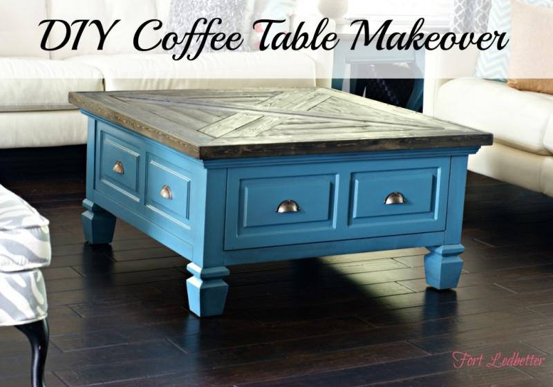 vintage coffee table makeover (via fortledbetter) - 15 Awesome DIY Coffee Table Makeovers - Shelterness