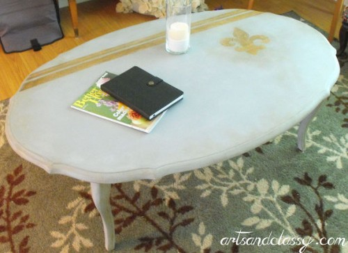 white oval coffee table (via hometalk)