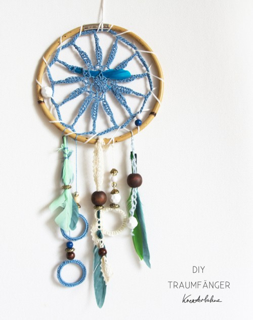 crocheted boho dreamcatcher