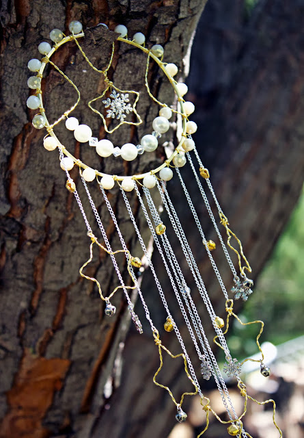 beads and stars dreamcatcher