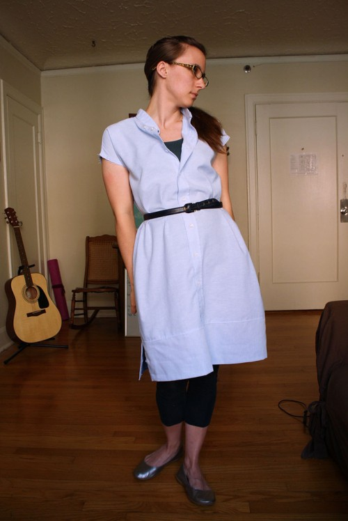 men shirt dress (via michaelannmade)