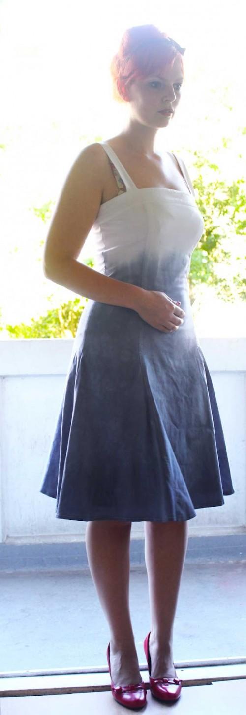 dip dyed dress (via )