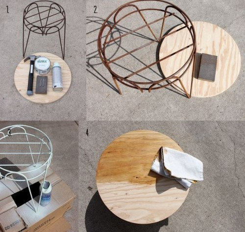 Awesome Diy End Table From A Plant Stand