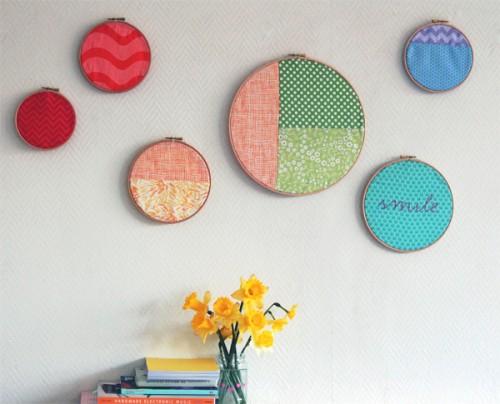rainbow hoop wall art (via crafts)