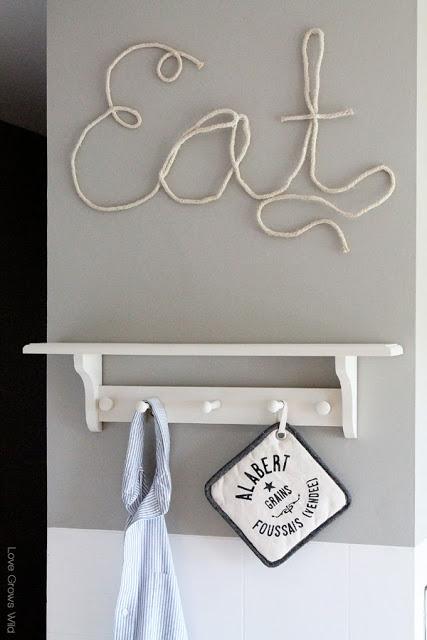rope letters decor (via lovegrowswild)