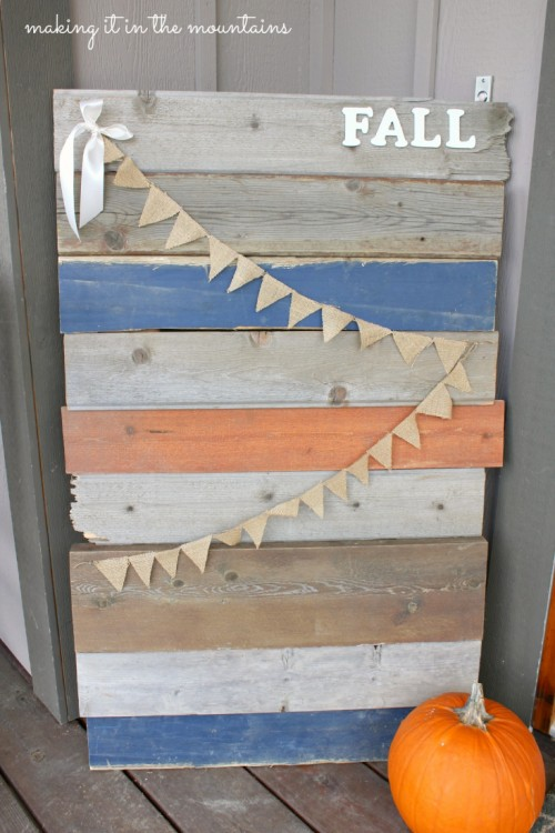 barnwood sign (via makingitinthemountains)