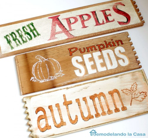 stencil fall signs (via remodelandolacasa)