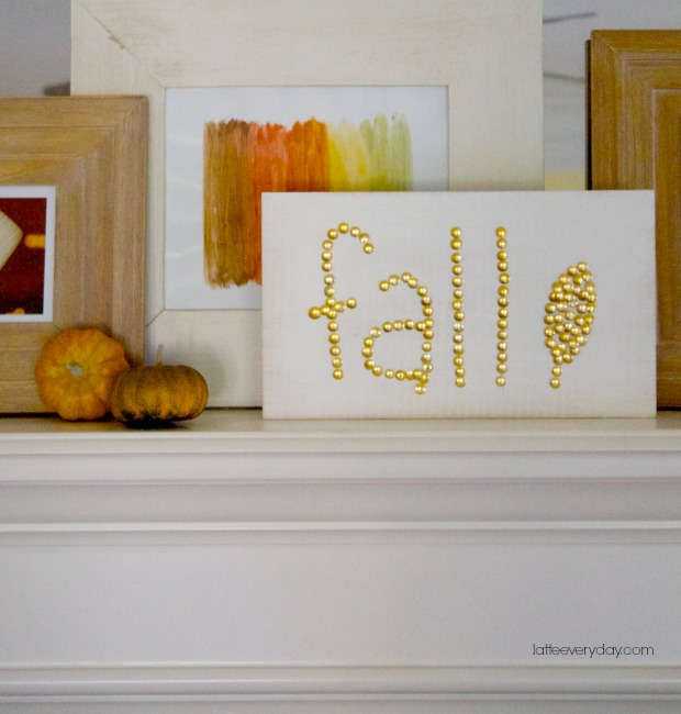gold studded fall sign