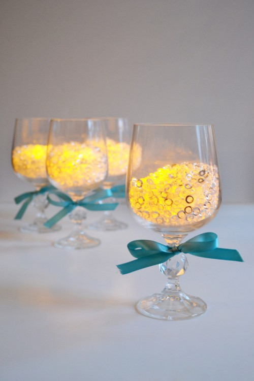 wineglass candle holders (via sparkandchemistry)