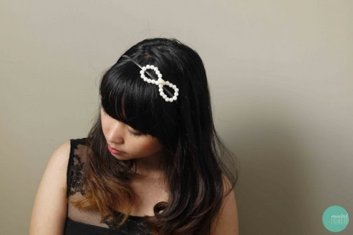 stylish hair bow (via shelterness)