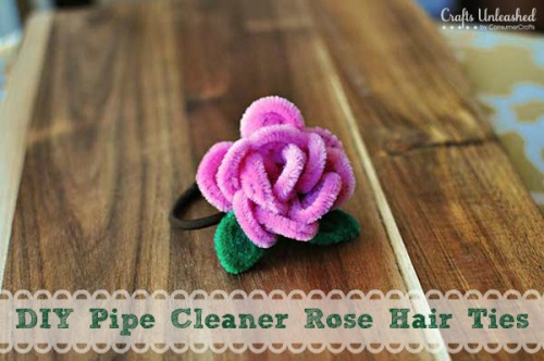 rose hair ties (via craftsunleashed)