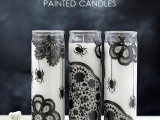 wicked painted candles