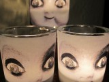 scary doll face candles