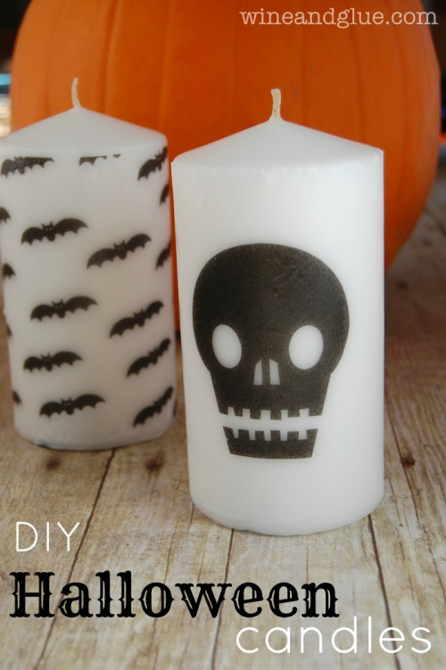 simple Halloween candles (via wineandglue)