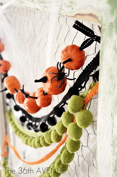Awesome DIY Pumpkin Halloween Garland (via tatertotsandjello)