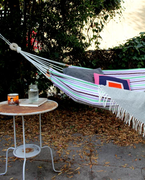 colorful summer hammock