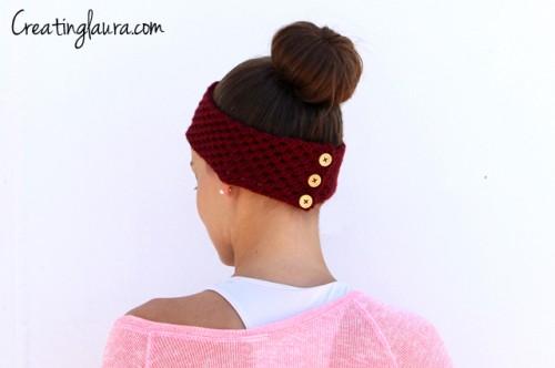 headband decorated with buttons (via creatinglaura)