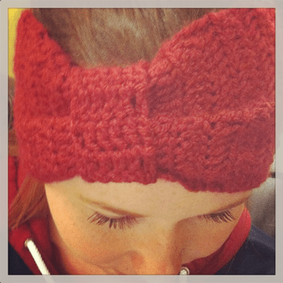 bow style winter headband (via bmaycreative)
